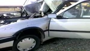تصادف عجیب و  راننده