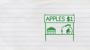 انیمیشن فروش سیب
