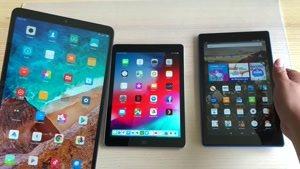 مقایسه بین تبلت های Xiaomi Mi Pad ۴ Plus و iPad ۲۰۱۸ و Amazon HD ۱۰
