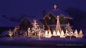 زیبا ترین چراغانی کریسمس
