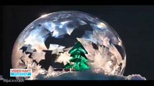 شگفتی های طبیعت از تصویر حباب های که یخ میزند
