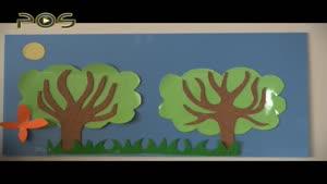 کاردستی کودک - درخت های بهشتی