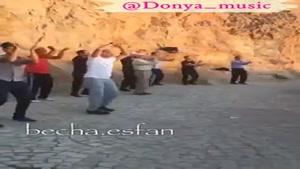 ورزش صبحگاهی در اصفهان. به به از عروسی هم شادتره😀