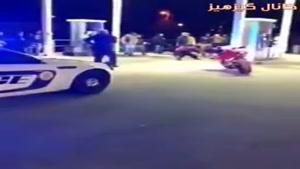 صحنه ای متفاوت از برخورد پلیس آمریکا با سیاه پوستان😁
