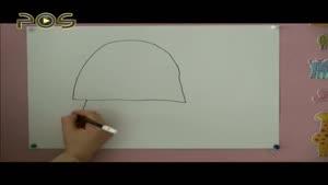 آموزش نقاشی به کودکان - لاک پشت
