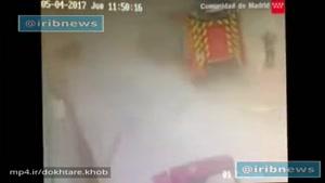 تصاويری از انفجار کارخانه مواد شيميايي در شهر مادريد اسپانياکه براثر آن ۳۰ نفر زخمي شدند