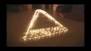چیدمان سه بعدی شمع