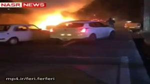 آتش گرفتن خودروی پژو پرشیا در تبریز😱چهارشنبه سوری 96