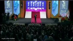 در میان جشنواره پخش تصویر پژمان جمشیدی سبب شد تا مردم میان صحبت رشیدپور پژمان جمشیدی را تشویق کنند