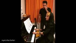 """عجب صدایی قدرتمتدی ، با نوازندگی زیبای بانوی ایرانی ، ترانه """"بر فراز آسمانها"""""""