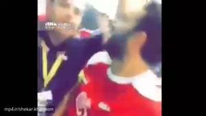 فیلم توهین و گستاخی بازیکنان سوریه در رختکن ورزشگاه آزادی به بازیکنان تیم ملی ایران