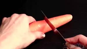 طراحی روی هویج