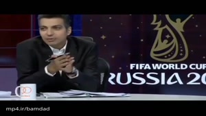 حرفهای بسیار منشوری فردوسی پور در مورد لباس مجری مراسم جام جهانی 😂😂 خیلی پشتش گرمه این بشر