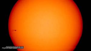 لکهای که بر روی خورشید پدیدار شد.