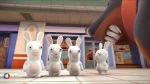 کارتون خرگوش های بازیگوش - عکس گرفتن