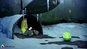 کارتون خنده دار لاروا - برف بازی