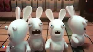 کارتون خرگوش های بازیگوش - جاروبرقی