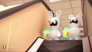 کارتون خرگوش های بازیگوش - پله برقی