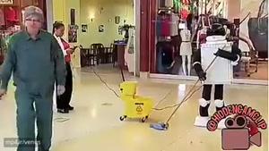دوربین مخفی ربات پررو