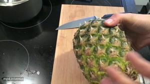 طرز پوست کندن آناناس در کمترین زمان