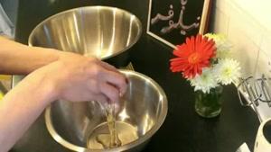 طرز تهیه شیرینی رولت ایرانی گارانتی با خامه