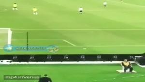 صحنه جالب بازی برزیل ارژانتین