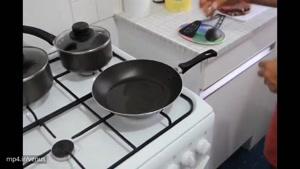 آموزش سرخ کردن استیک به سبک ایرانی همراه با سیب زمینی تنوری