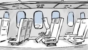 انیمیشن خنده دار سقوط هواپیما