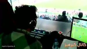 عادل فردوسیپور در لحظات پایانی گزارش دربی