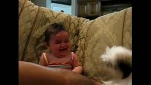 سگ میخواد بچه رو بخوره بچه میخنده