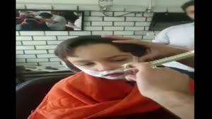 پسر بچه ۶ ساله و اصلاح ریش سیبیل