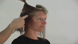 کوتاه کردن مو به روش مدل گرد