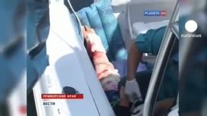 حمله کوسه در آبهای سرد روسیه