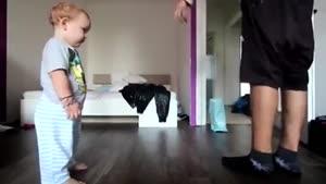 حتماً ببینید رقص کودک و پدر