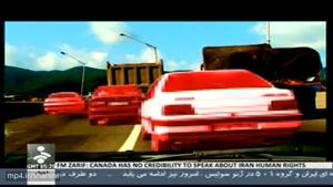 کنترل نامحسوس و کورس خطرناک ۳ ماشین ۴۰۵ سمند زانتیا در جاده
