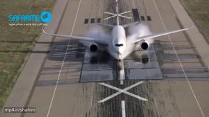 آزمایش حیرت آور بسیار جالب دیدنی فرود هواپیما در باند پر از آب