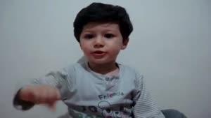 تفسیر اشعار سعدی توسط پسر بچه دو ساله