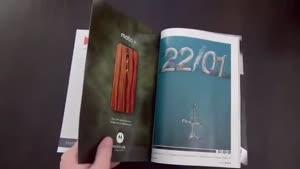 تبلیغ گوشی Moto X در مجله Wired