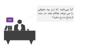 شروط ضمن عقد ازدواج برای خانمها - خدمات حقوقی اینترنتی آیخدمت
