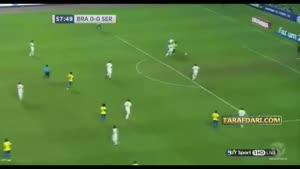 گل بازی برزیل_صربستان