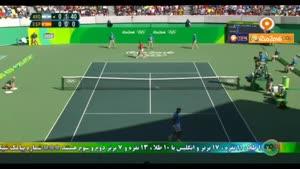 گزیده رقابت جذاب تنیس آرژانتین واسپانیا مرحله نیمه پایانی