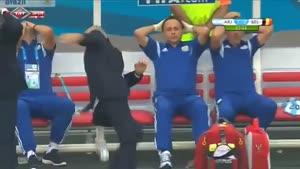 عکس العمل خنده دار مربی ارژانتین