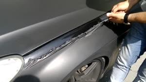 کندن روکش برچسب بدون آسیب به رنگ خودرو