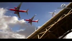 فرود شگفت انگیز هفتاد هواپیما در ۲۵ثانیه