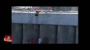 دوربین مخفی غرق شدن کارگر در دریاچه