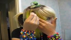 فانتزی رنگ کردن مو مدل پلنگی