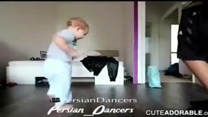 رقص باحال و دیدنی پدر و پسرش