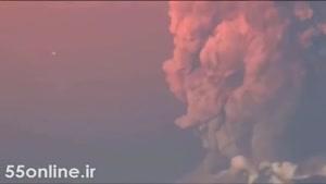 شیء نورانی ناشناس بر فراز آتش فشان شیلی
