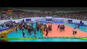 پیروزی تیم والیبال ایران بر تیم  لهستان