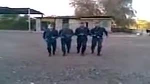 رقص سرباز های ایرانی